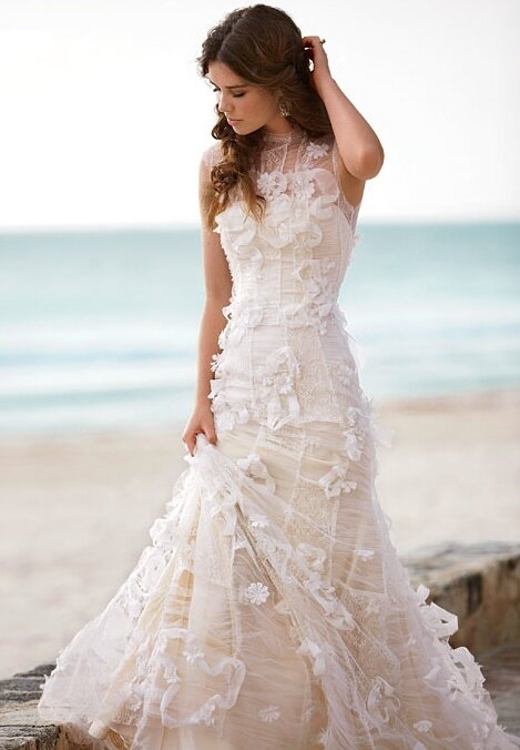 Wedding dresses with lace top Photo - 10