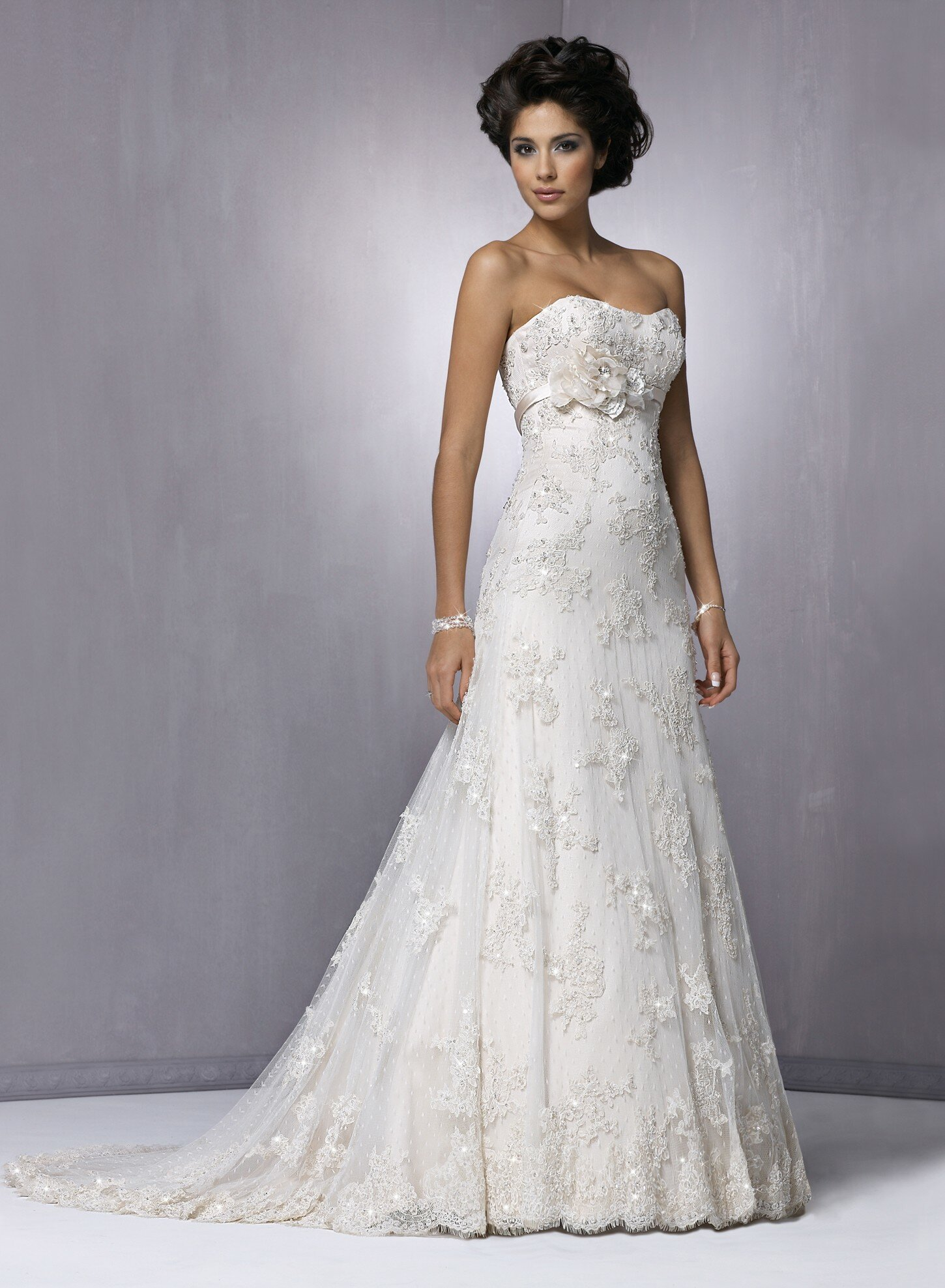 Lace top to wear under strapless dress