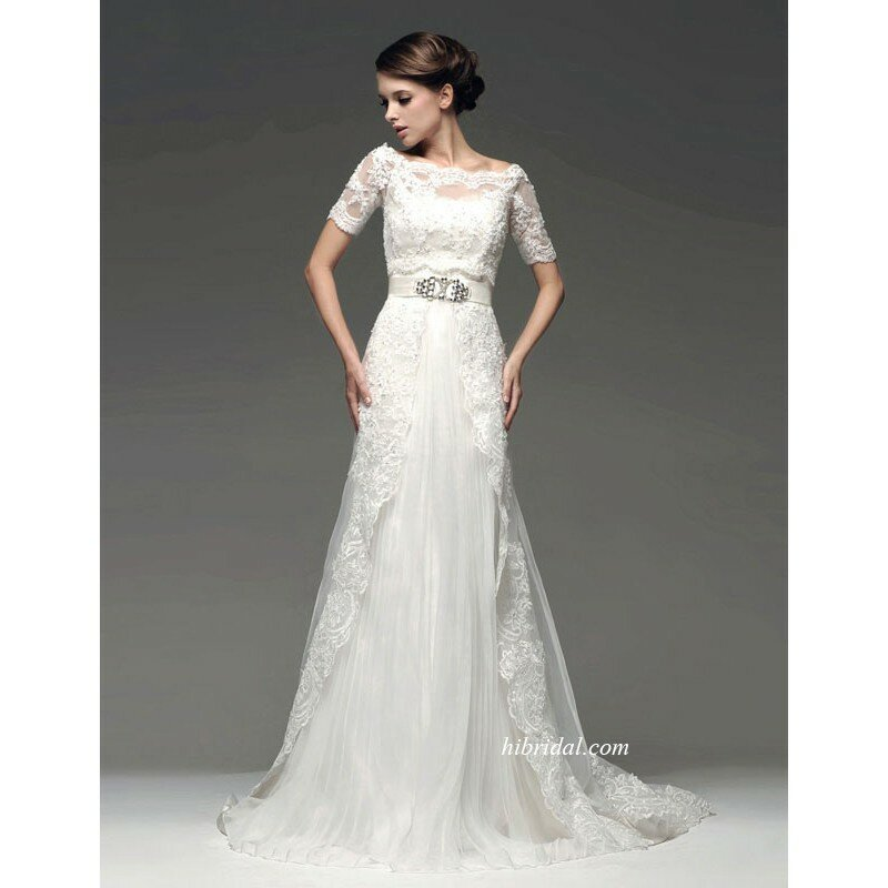 Wedding dresses with lace top Photo - 4