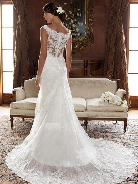 Wedding dresses with lace top Photo - 5