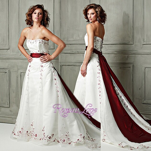 Wedding dresses with red sash: Pictures ideas, Guide to buying ...