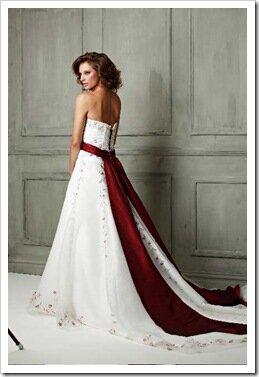 wedding dresses with red sash | Wedding
