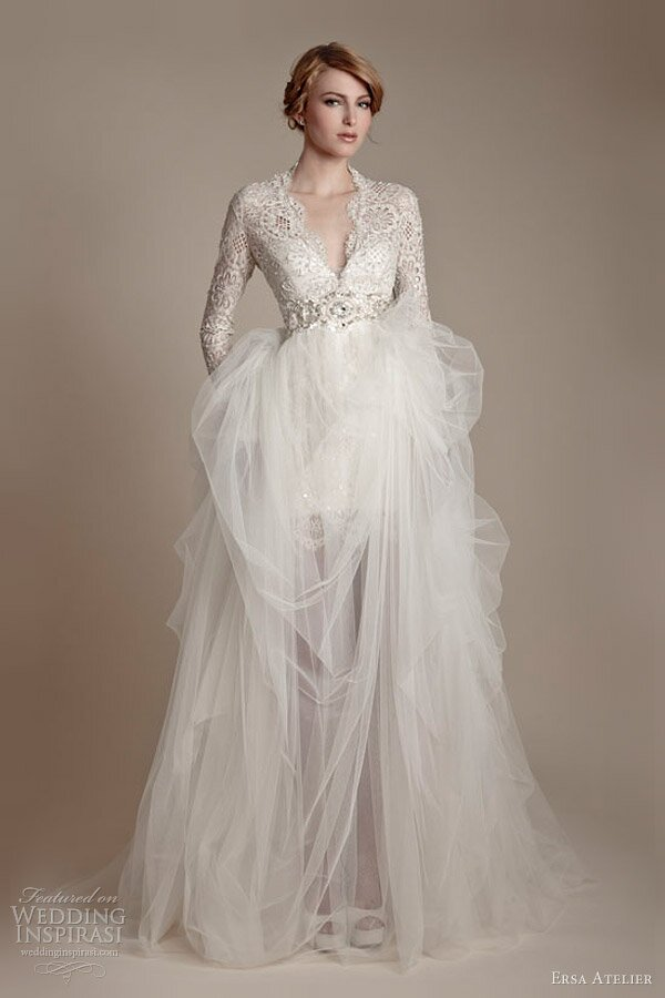 Wedding dresses with sleeves lace Photo - 1