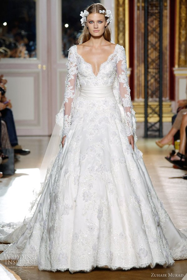 Wedding dresses with sleeves lace Photo - 2