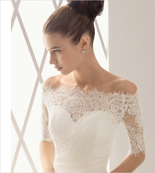 Wedding dresses with sleeves lace Photo - 3