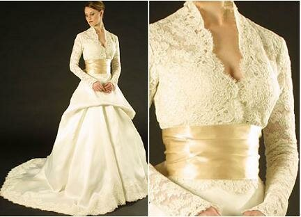 Wedding dresses with sleeves lace Photo - 4