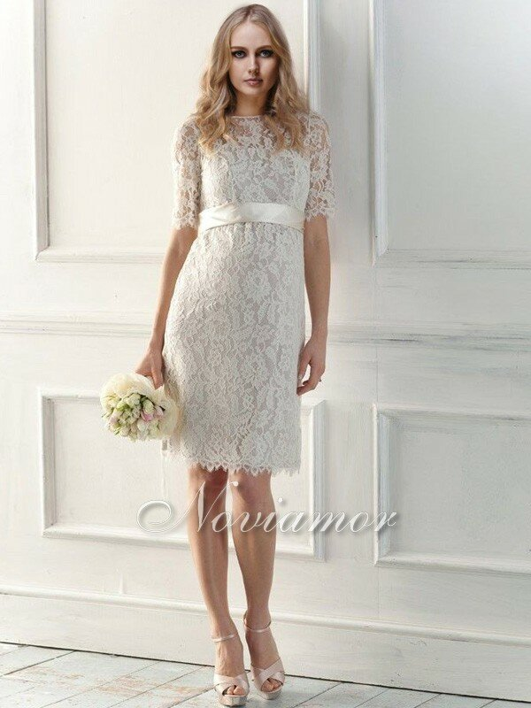 Wedding dresses with sleeves lace Photo - 7
