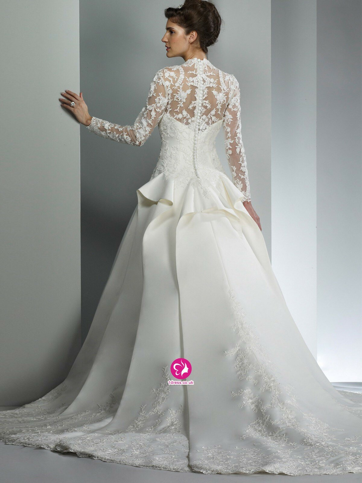 Wedding lace dresses with sleeves pictures ideas guide for Cheap lace wedding dresses with sleeves