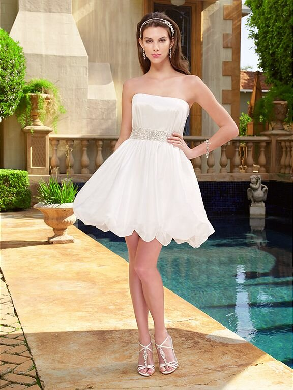 Wedding Reception Dresses For The Bride Short Photo 6