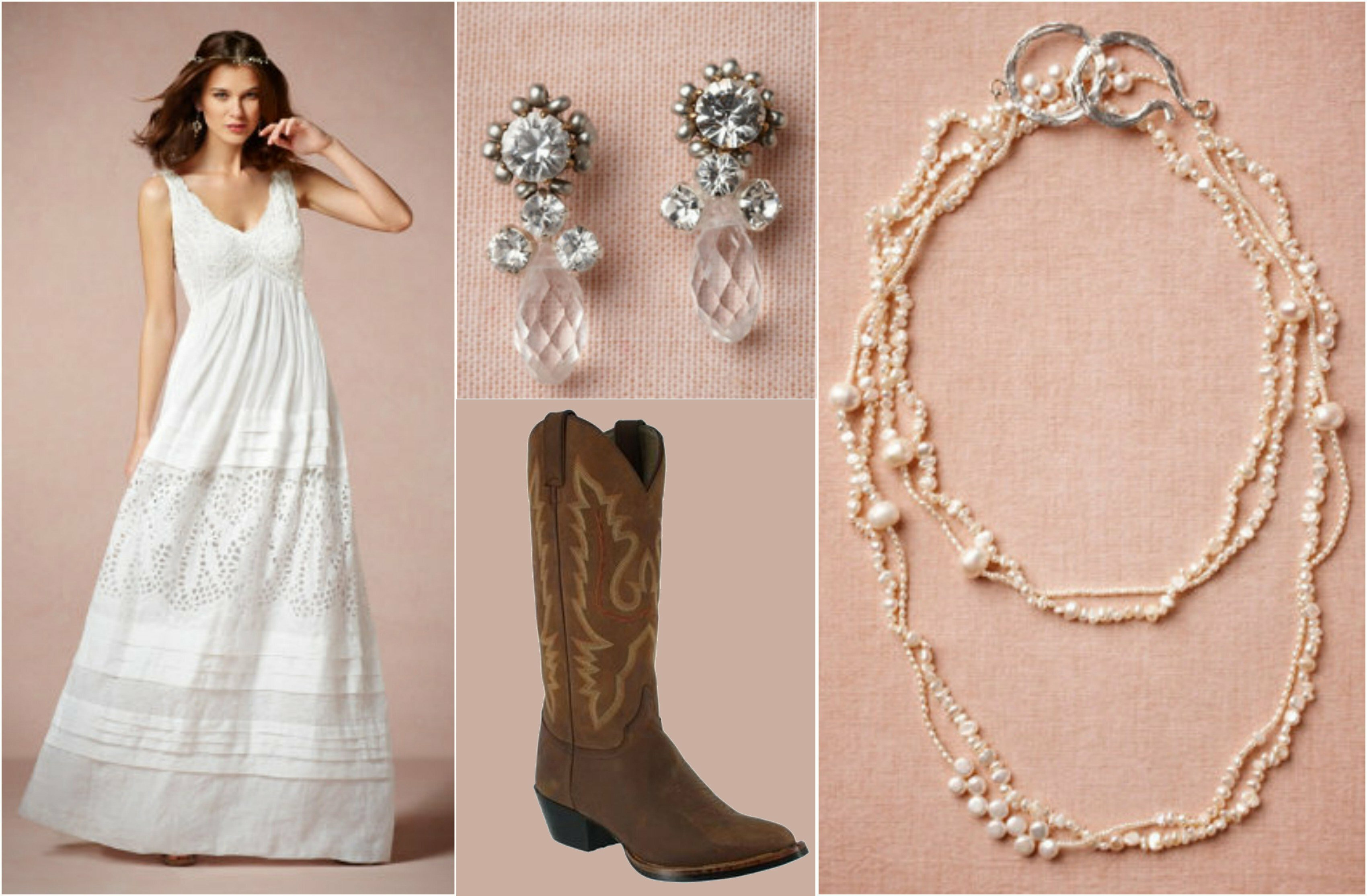 Western wedding dresses with boots: Pictures ideas, Guide to buying ...