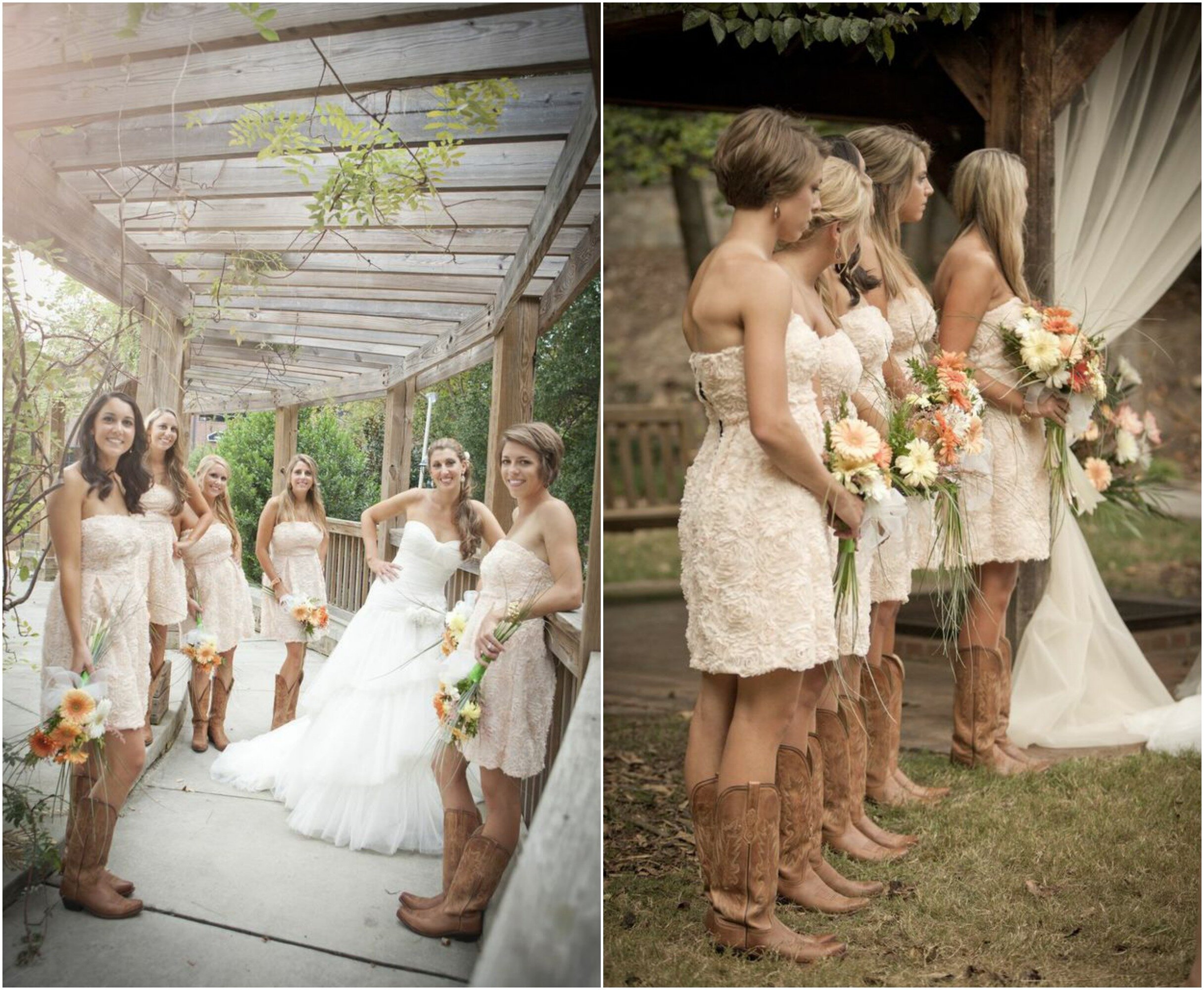 Western wedding dresses with boots Photo - 4