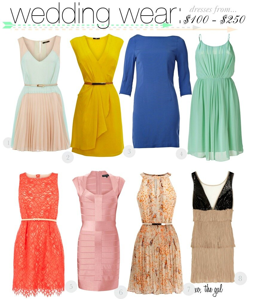 What color dresses to wear to a wedding: Pictures ideas, Guide to ...