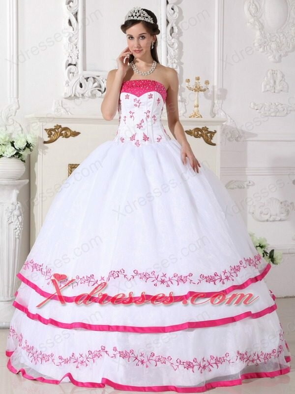 white and hot pink wedding dresses pictures ideas guide