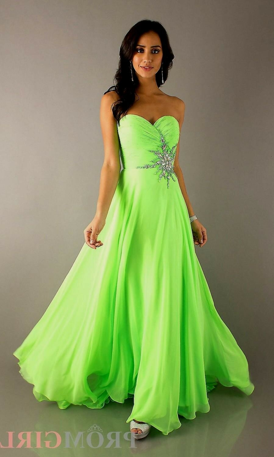 white and lime green wedding dresses pictures ideas