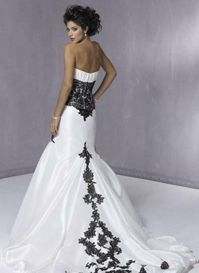 White with black lace wedding dresses: Pictures ideas, Guide to ...