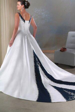 Coloured Wedding Dresses Plus Size