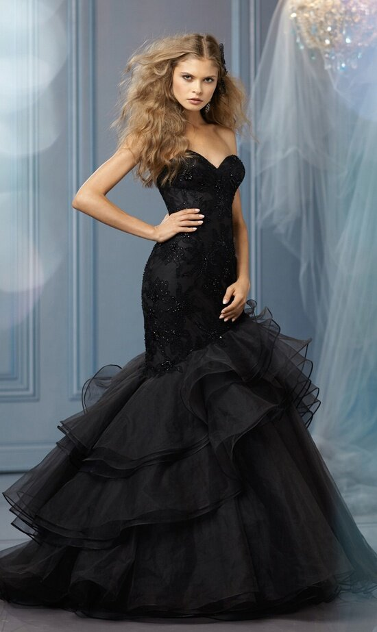 Black Long Dresses Wedding Photo