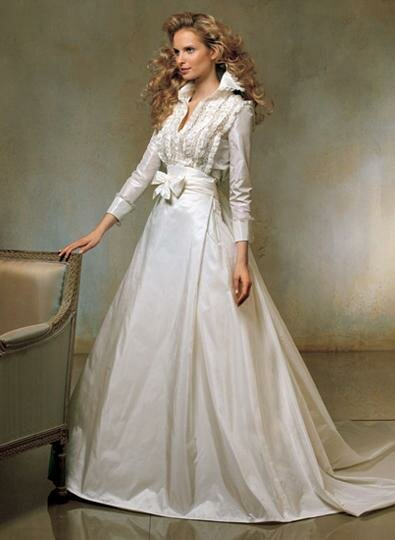 Long sleeve winter wedding dresses pictures ideas guide for Winter wedding guest dresses with sleeves