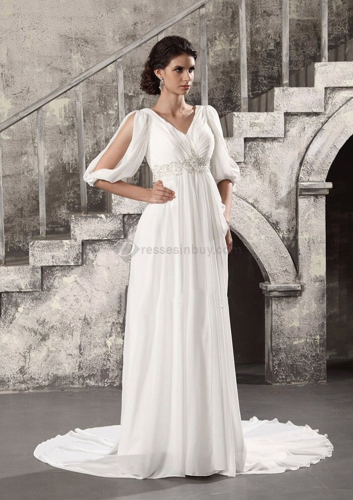 Beach wedding dresses with sleeves photo - 4