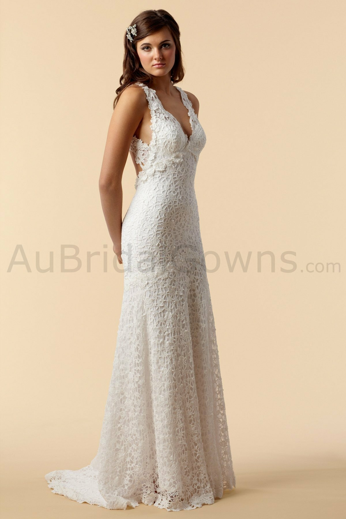 Cotton lace wedding dresses photo - 2
