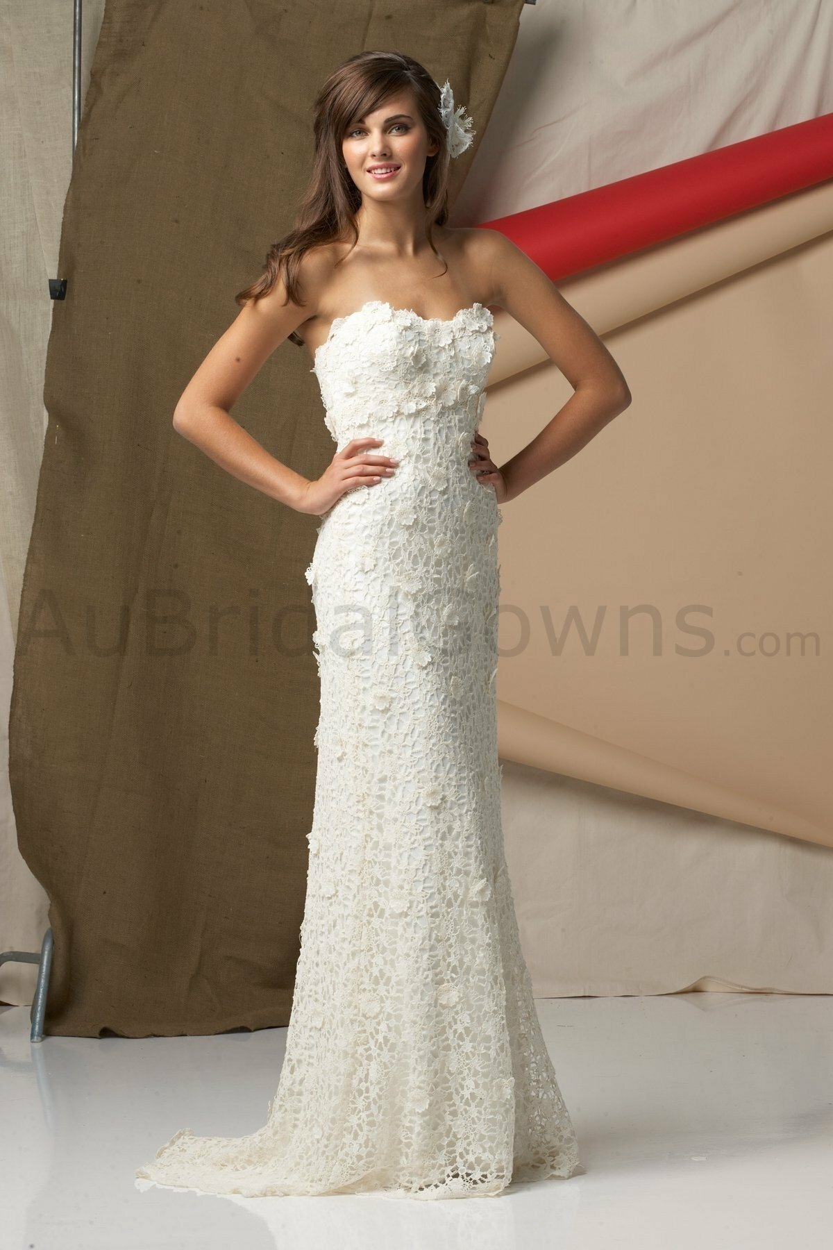 Cotton lace wedding dresses photo - 4