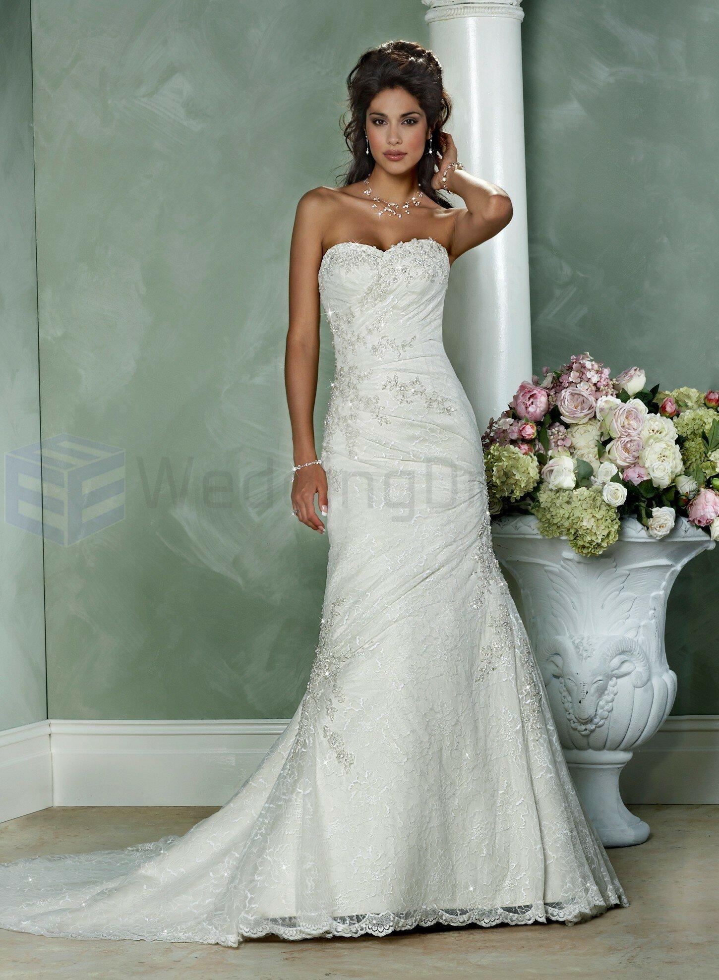 Short strapless wedding dresses photo - 3