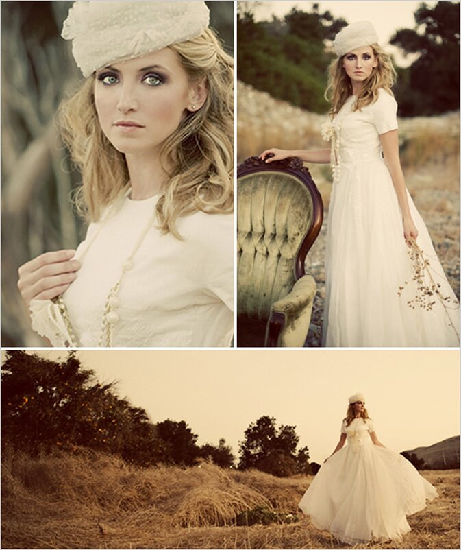 Vintage wedding party dresses photo - 5