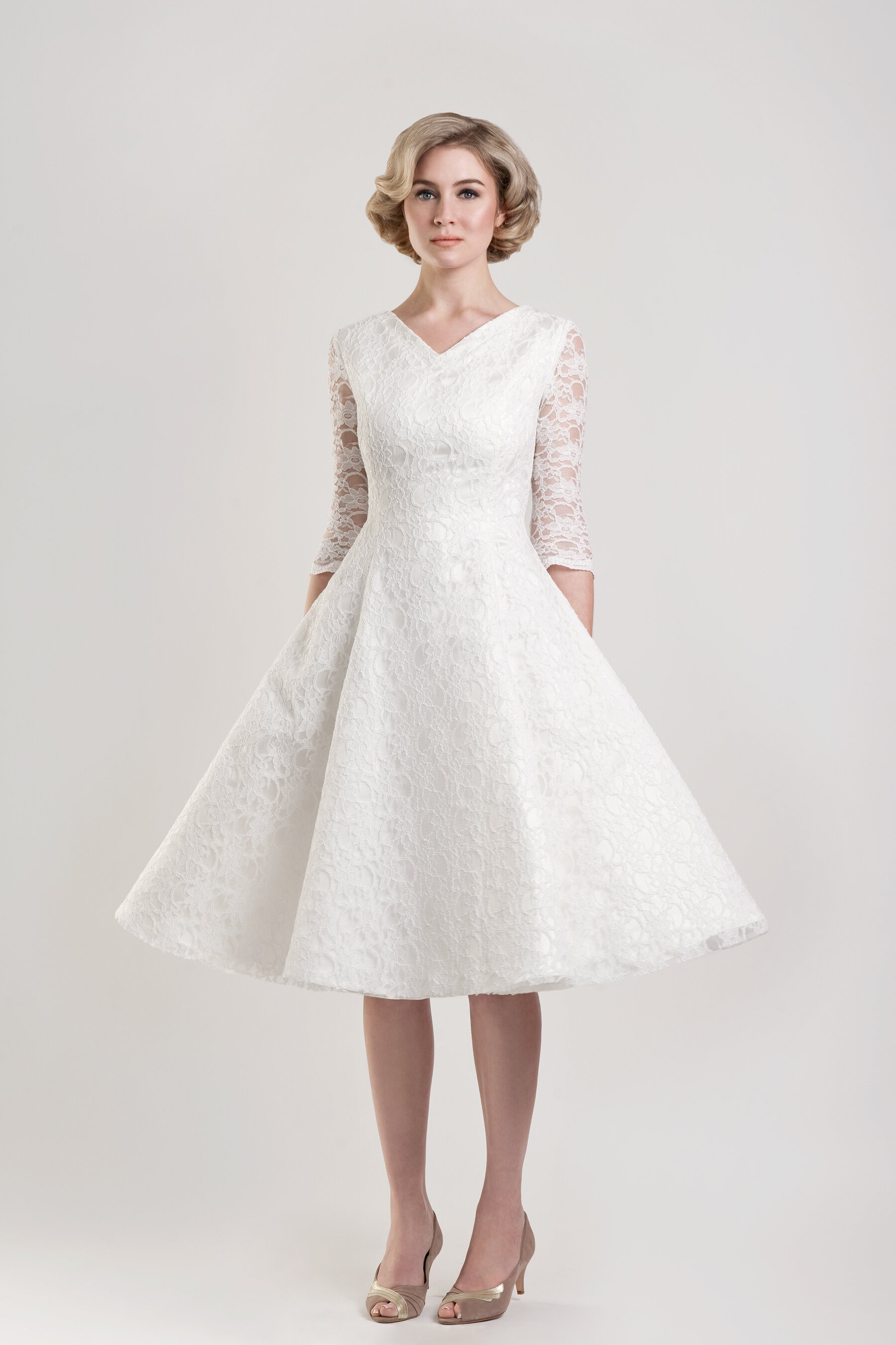Vintage wedding party dresses photo - 6