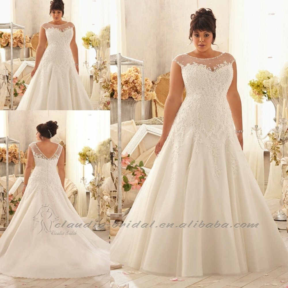 Wedding dresses for big girls photo - 2