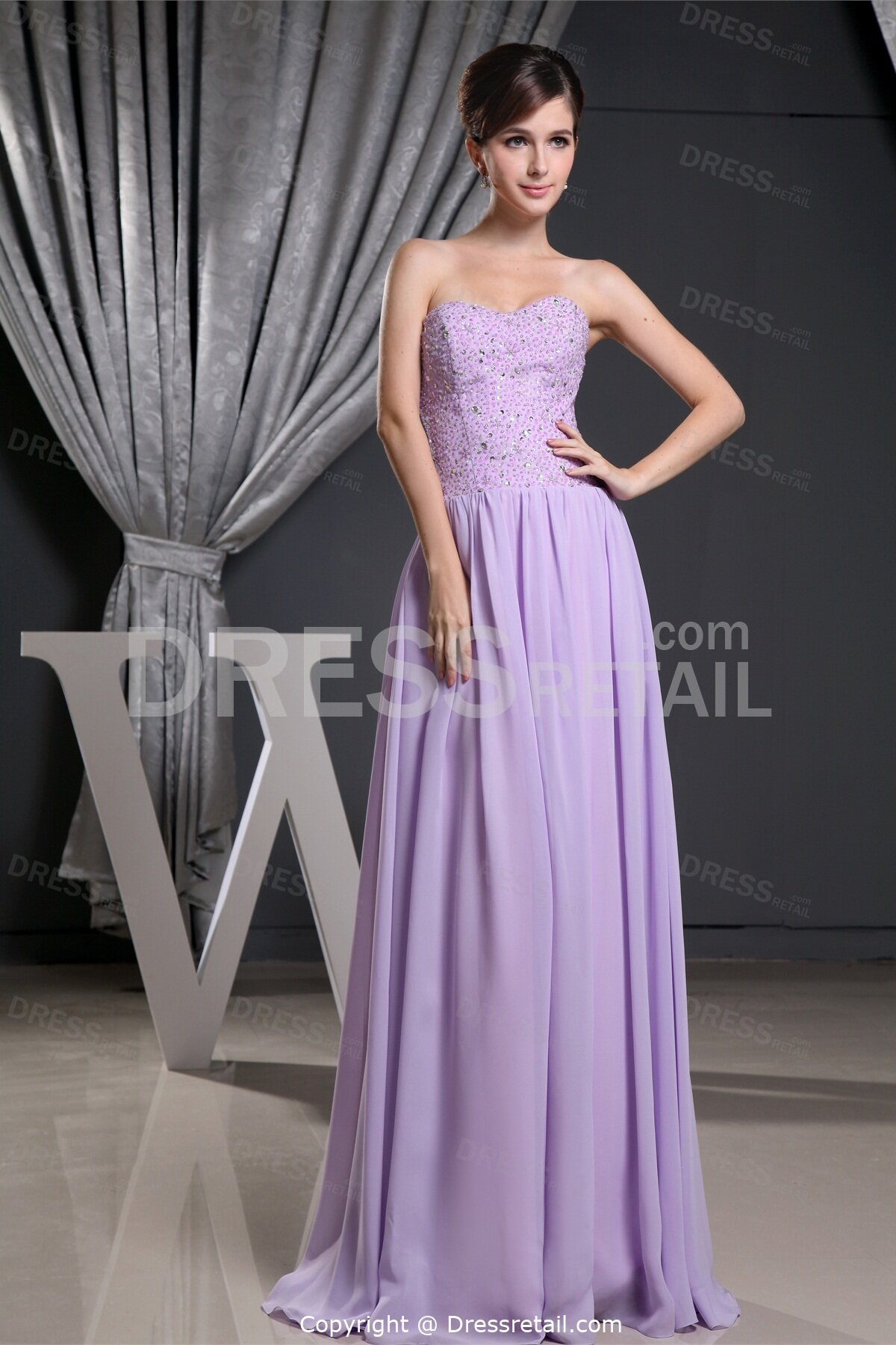 lavender wedding dress photo - 5