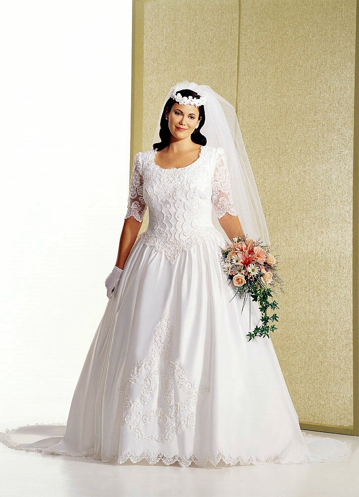 Plus size wedding dresses with sleeves apporoved by for When to buy wedding dress