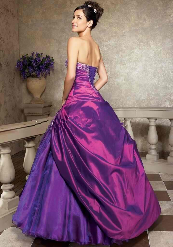 purple wedding dress photo - 7