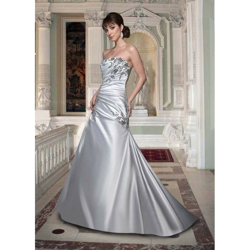 silver wedding dresses photo - 14